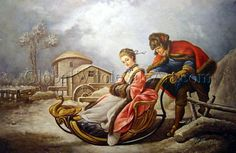 """Winter"" by Francois Boucher. Oil painting from http://globalwholesaleart.com/"