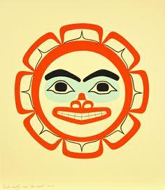 Sun Serigraph by Preston Singletary (Tlingit) Native Canadian, American Indian Art, Native American, Tlingit, Inuit Art, Museum Shop, Indigenous Art, Native Art, Wood Carving