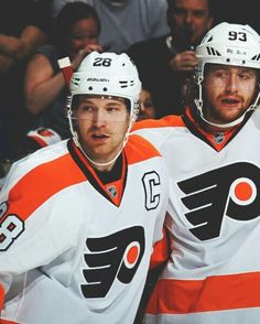Giroux and Voracek Flyers Hockey, Hockey Players, Philadelphia Flyers, My Love, Sports, Bullies, Men, Street, Hs Sports