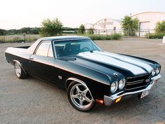 '70 El Camino. Reminds me of Dad's el Camino (well, his first el Camino that I remember!)