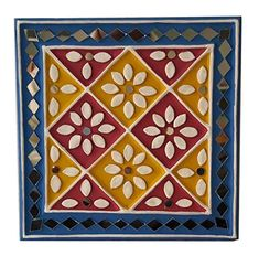 Buy SHAKTI KUTCHI MUD & MIRROR CRAFTS Clay Wall Frame (18 cm x 18 cm x 2 cm, SKMMCWF7X7013) Online at Low Prices in India - Amazon.in