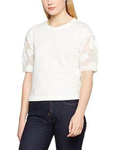 Sonia Rykiel Women's 87266072-89 T-Shirt, Beige (Ecru/Ecru), Small. UK t shirt. UK t shirts. Women t shirt. Women t shirts. Women fashion Women dressing. It's an Amazon affiliate link.