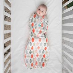 ErgoPouch ErgoCocoon Winter Swaddle and Sleep Bag (2.5 tog) - Blush Leaf