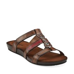 Lynx Locket in Brown Multi Synthetic - Womens Sandals from Clarks