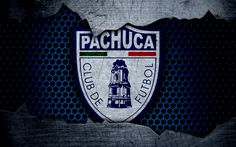 Download wallpapers Pachuca, 4k, logo, Liga MX, soccer, Primera Division, football club, Mexico, grunge, metal texture, Pachuca FC