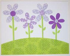 Daisy Garden-Children's Art Decor Kids Wall Art Nursery Art Decor by vtdesigns, $14.00