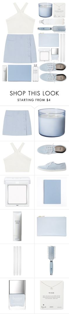 """""""Aquarius"""" by queen-elizabeth2000 ❤ liked on Polyvore featuring BCBGMAXAZRIA, RMK, Muji, Shiseido, Whistles, Goody, Butter London, Dogeared and Seletti"""