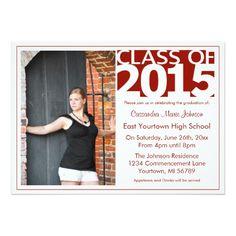 "Modern Graduation Open House 5"" X 7"" Invitation Card"