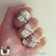 Princess cut diamond engagement rings <3