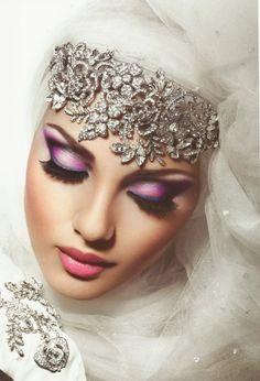 arab bride makeup look ..beautiful! <3