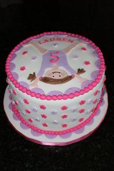 Gymnastics Cake for Preslie Gymnastics Birthday Cakes, Gymnastics Party, 3rd Birthday Cakes, 7th Birthday Party Ideas, Birthday Fun, Trampoline Party, Sport Cakes, Snacks Für Party, Cupcake Cakes