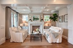 beach style living room by Brandon Architects, Inc.--Revive Your Room's Look in Just 5 Steps