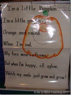 """Song, """"I'm a Little Pumpkin"""""""