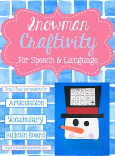 Would you love a snowman craftivity that you can prep for your whole caseload? This snowman craft allows you to prep one craft and differentiate for each of your student's goals. Work on articulation, adjectives, winter vocabulary, categories, idioms, emotions, prepositions and irregular