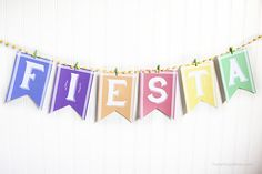 Free printable FIESTA banner for CINCO DE MAYO!