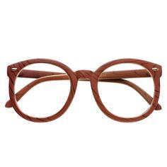 #clear #lens #brown #wood #like #wayfarer #round #eyeglasses #glasses #frames #large #oversized #celebrity