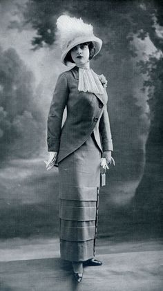 Shorten that skirt and its high fashion work wear 2013!  Fashion for Women, 1912