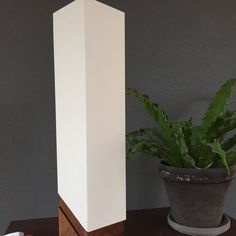 New listing! Check out our latest design – our modern wood accent lamp.