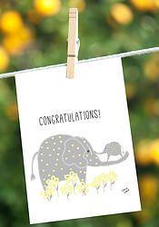Congratulations New BabyPin now for later!  Irene Irene Art #elephant, #newbaby