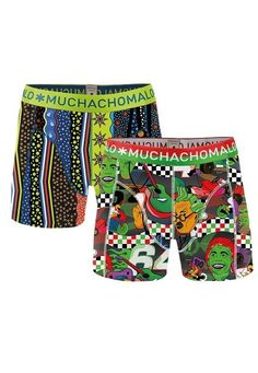 Muchachomalo boxershort voor jongens Motor, groen
