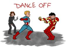 Ideally, this is how Civil War should go down. No explosions or irreparably damaged relationships. Just really intense dancing.