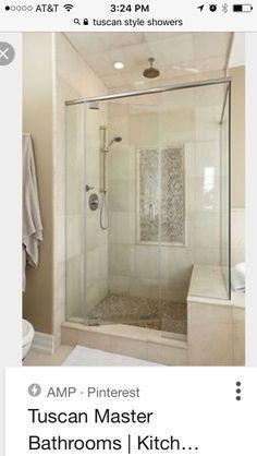 Travertine custom shower … | Bathroom | Pinterest | Custom shower ...