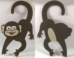 Monkey Door Hanger Nursery Door Hanger Monkey by DidiLouCrafts