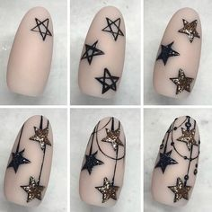Looking for easy nail art ideas for short nails? Look no further here are are quick and easy nail art ideas for short nails. Xmas Nails, Holiday Nails, Diy Nails, Christmas Nails, Manicure, Christmas Stars, Christmas Ideas, Christmas Inspiration, Short Nail Designs
