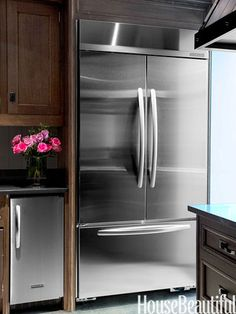 The 42-inch KitchenAid French Door refrigerator from the Architect Series II has more capacity than any other built-in bottom-mount refrigerator.