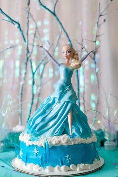 Frozen Birthday Party via Kara's Party Ideas | this cake!!