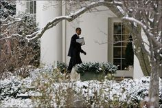 President Barack Obama Heading To The Oval Office In The White House....