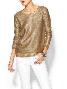 Gold Sweater via Piperlime #fallfashion #novemberstyle #outfitideas