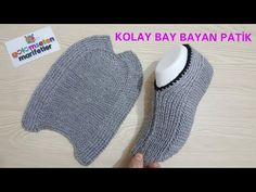 Men and women knitting for beginners I knitting simple slippers I sock . How To Start Knitting, Knitting For Beginners, Easy Knitting, Knitting Socks, Knitting Patterns, Gestrickte Booties, Knitted Booties, Knitted Slippers, Women's Booties