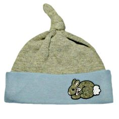 af56de320fe Baby Boys  Blue  amp  Gray Knotted Bunny Hat. Adorable Toddler