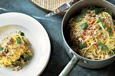 Crab Linguine with Basil, Lemon & Chile Great with Chilean Crab Meat