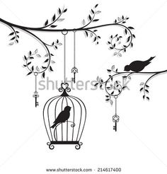 White On Black Bird Illustration Stock Photos, Images, & Pictures Owl Tattoo Drawings, Music Drawings, Cool Art Drawings, Art Drawings Sketches, Drawing Ideas, Pencil Sketch Drawing, Pencil Art Drawings, Bird Drawings, Home Wall Painting