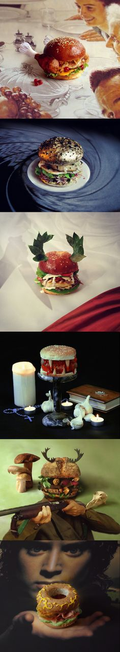 Creative burger designs by Thomas and Quentin