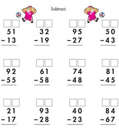 Advance to more complicated subtraction: Teach kids to regroup, or deduct, numbers from the 10s to the ones columns.