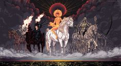 the Four Horsemen of the Apocalypse by korintic.deviantart.com on @deviantART