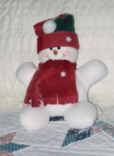 Little snow man.  Fits in your hand and he doesn't melt.