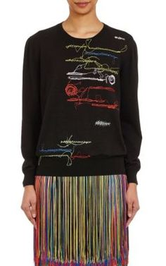 Christopher Kane Embroidered Sweater at Barneys New York