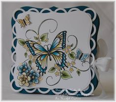 Butterfly Melody Accordion Card - Heartfelt Creations by rosekathleenr - Cards and Paper Crafts at Splitcoaststampers