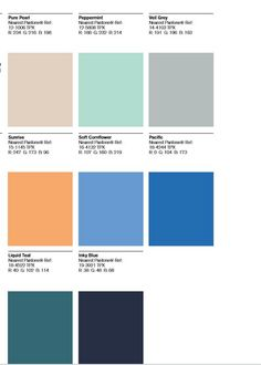 Colour Swatches provided to me by Trend Bible that shows the colours they achieved from Masdar city inspiration to provide the Airspace theme.