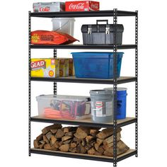 Steel Shelving Storage 5 Shelf Heavy Duty Home Garage Rack Shelves Metal Unit