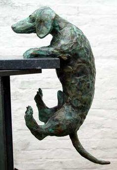 Teckel Dog Sculpture, Pottery Sculpture, Animal Sculptures, Dachshund Art, Daschund, Ceramic Animals, Pet Life, Dog Art, Animals And Pets