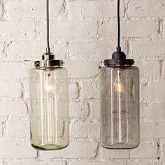 Glass Jar Pendant - Tall