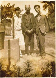 József Etelka, József Attila és anyai nagyapjuk, Pőcze Imre. 1928-án, Szabadszáláson.