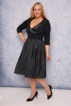 80d04c134478c SCARLETT   JO Black Tuxedo Prom Dress Plus Size Black Dresses