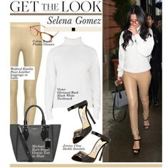 Get The LooK: Selena Gomez by hamaly on Polyvore featuring Victor Glemaud, Wolford, Jimmy Choo, women's clothing, women's fashion, women, female, woman, misses and juniors