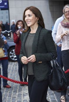 Queens & Princesses - Crown Princess Mary attended the opening of the conference of the Nordic women against domestic violence, which was held in Copenhagen.